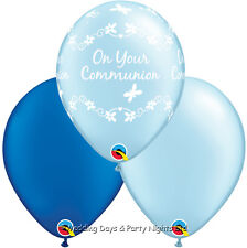 15 Holy Communion Pale + Royal Blue Helium/Air Balloons Boys Party Decorations