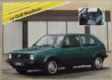 VOLKSWAGEN GOLF MADISON Car Sales Specification Leaflet Dec 1989 FRENCH TEXT