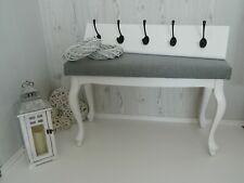 Wooden Coat Hanger Upholstered Bench Hallway Set Hooks