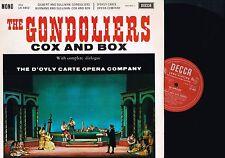 GILBERT&SULLIVAN The Gondoliers COX & BOX LP #1 D'Oyly Carte Opera DECCA LK4402