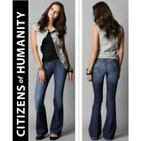 Citizens of Humanity Ingrid Stretch Low Waist Flare Denim Jeans CoH Womens 27