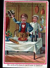 IMAGE CHROMO CHOCOLAT POULAIN / BONNE TABLE en CUISINE / SANCTUAIRE du BONHEUR