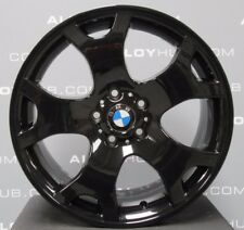 """GENUINE BMW X5 E53 TIGER CLAW STYLE 63 BLACK 19""""INCH ALLOY WHEELS X4, VW T5/T6"""