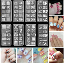 10Designs Stamping DIY Image Template Manicure Nail Art Stencil Plates Kit Set