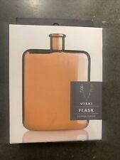 New 6 Oz Stainless Steel & Metallic Copper Plated Finish Liquor Flask By Viski
