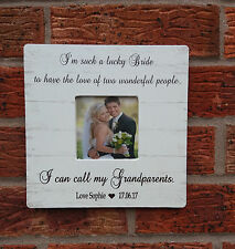 shabby vintage chic i'm such a lucky bride gift photo frame personalised