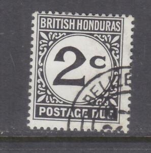 BRITISH HONDURAS, POSTAGE DUE, 1972 New Watermark, 2c. Black, used.
