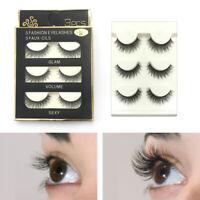 3D 100% Real Mink Thick Natural False Eyelashes Makeup Fake Eye Lashes Extension