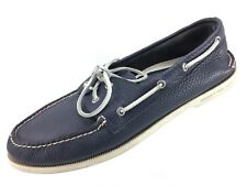 SH11 Sperry Top-Sider 14M Navy Blue Leather A/O 2 Eye Boat Shoe Original 0191312