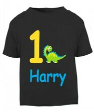 Personalised Children's Kids Birthday 1st 2nd 3rd 4th 5th CUTE DINOSAUR T-Shirt