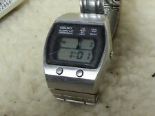 Retro Seiko LCD LC chronograph digital watch working condition rare