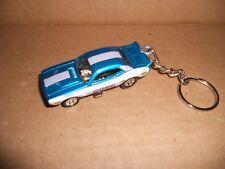 1972 Dodge Challenger Nhra Color Me Gone Diecast Model Car Keychain Blue W White