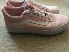 Vans Ward Sneaker Light Pink Girls Size 4