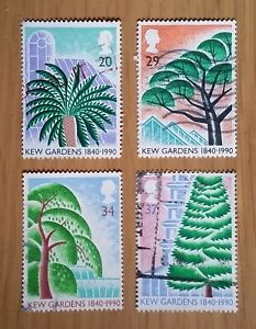 Complete GB used stamp set: 1990 Kew Gardens 150th Anniversary