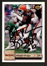 Stephen Braggs #313 signed autograph auto 1992 Upper Deck Football Trading Card