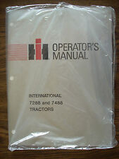 IH Farmall Mccormick International 7288 7488 Owners Manual NOS