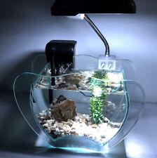 Nano Aquarium Komplettset Granat mit Pumpe, Filter, Kies, LED Leuchte, Fels