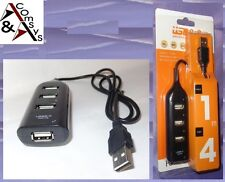 USB 2.0 1.1 hub di distribuzione 4 porta LED HighSpeed per Notebook Netbook PC OVP