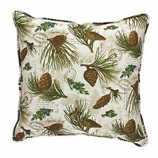 "Park Designs 20"" Walk In The Woods Pine Cone Pillow Cover"