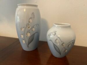 Lily of the Valley Vases x 2 - Bing & Grondahl