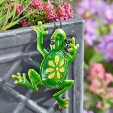 Decor Frogs Hanging Metal Green Glass Marble Bell Flower Leaf Sunray Catcher New