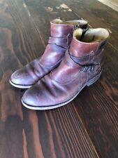 FRYE Women's Jayden Cross Strap Dark Brown Distressed Leather Boots Size 9 US