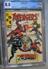 Avengers #53 CGC 8.0 White pages June 1968 2nd major crossover with X- Men