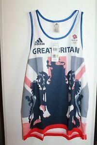 Adidas Response Mens Team GB Olympics Running Singlet Gym Training Vest .ALY