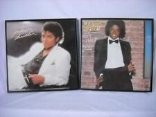 MICHAEL JACKSON ALBUM LOT W/PROTECTIVE FRAMES-THRILLER & OFF THE WALL