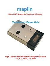 Maplin High Quality USB Bluetooth v4.0 Adapter Dongle PC Windows 10 8 7 RRP £15