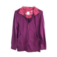 Old Navy Active Womens Medium Full Zip Up Sweater Purple Long Sleeve