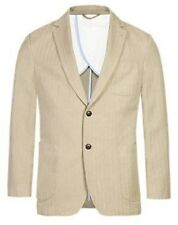 BNWT M&S COLLECTION BEIGE NOTCH LAPEL 2 BUTTON HERRINGBONE JACKET WITH LINEN 36R