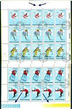 1971 Sapporo Olympics,Ice Hockey,Biathlon,Bobsled,Romania,M.2984,KB/3,VFU/Errors
