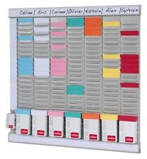 Office Planner 7 Day Wall Mounted weekly Organiser Clocking In/Out Card Holder