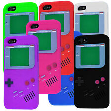 12 Colours GameBoy Game Boy 3D Silicone Case Cover for iPhone 5 + Screen Guard