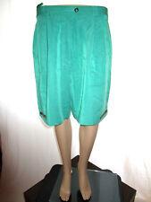 Womens Vtg SABRINA Embellish Tailored Classic Mod Green Shorts Bermuda sz L AG62