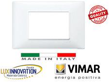 VIMAR 14653.01 PLANA PLACCA 3M TECNOPOLIMERO BIANCO. placca vimar plana bianca