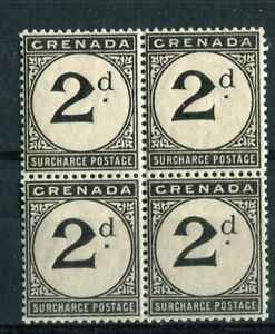 Grenada KEVII 1906 Postage due 2d SG.D9 MNH block of 4