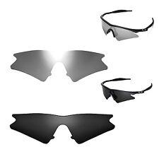 Walleva Polarized Black + Titanium Lenses For Oakley M Frame Sweep Sunglasses