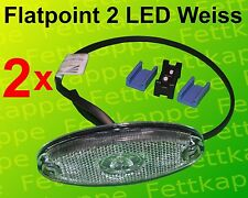 2 x Aspöck Begrenzungsleuchte Flatpoint 2 LED Weiss 0,5 m Kabel - 31-6909-017