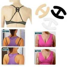 3 Bra Clips - Hide Bra strap & adjust /enhance cleavage clip clear nude black