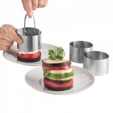 Pro Stainless Steel 3-Piece Food Ring Press Set Cooking Presentation Rosti - NEW