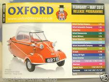 Oxford Diecast 48 página Bolsillo catálogo Febrero a Mayo 2015 programa de liberación