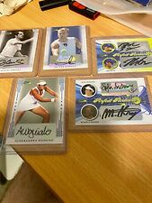 Ace and Leaf Tennis Various Signature Cards x 19