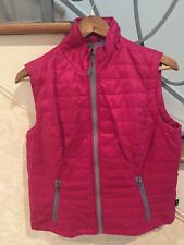 Ladies Quilted Magenta Vest, Nwt Size S