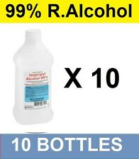 Brand NEW 99% Isopropyl Rubbing Alcohol - 16 oz PINT - LOT OF 10! FREE SHIPPING!