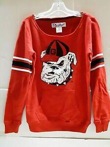 Georgia Bulldogs NCAA Ladies Jeweled Long Sleeve Sweatshirt, XL