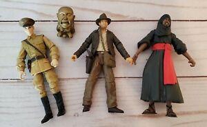 "Indiana Jones Lot of 3 Movie Action Figures 3.75"" Hasbro 2007 w Idol Indy"