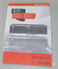 Betriebsanleitung Philips Autoradio RC 026 / RC 027 Stand 01/1998