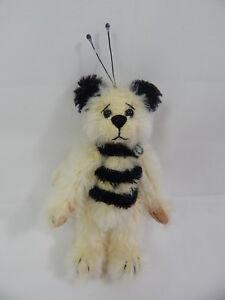 "World of Miniature Bears By Theresa Yang 4"" Mohair Bear Queen Bee #954 CLOSING"
